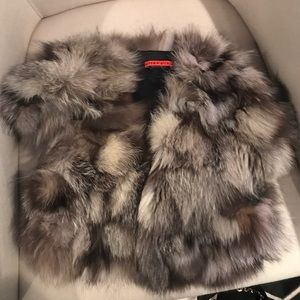 Alice and Olivia real fur vest Small Petite